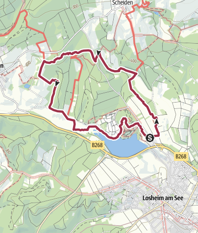 Karte / Traumschleife Der Hochwälder