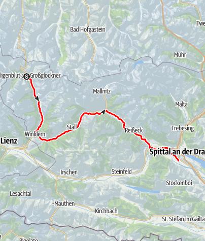 Karte / Der Glockner-Radweg R8