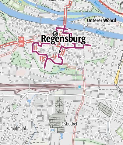 Straßenkarte Regensburg