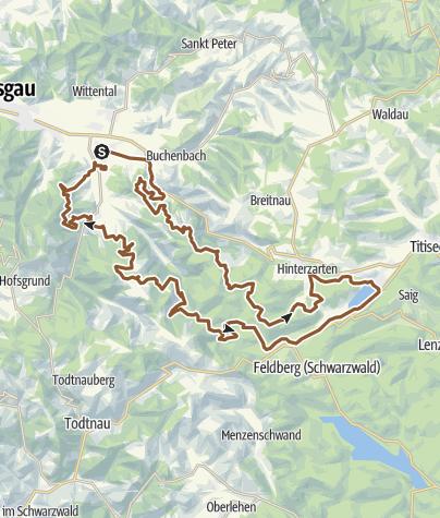 Karte / Black Forest Ultra Bike Marathon Kirchzarten 2010 - Marathon-Distanz