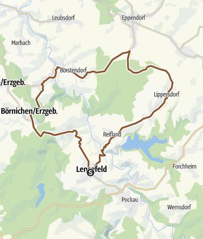 Karte / Rund um Lengefeld (Miriquidi Trails)