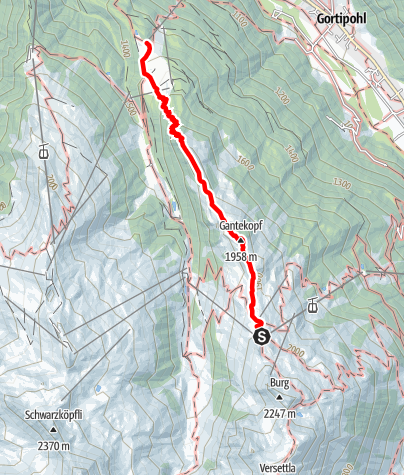 Karte / Panoramaweg Gantakopf