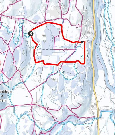 Karte / Sonnenalp Loipe - Langlaufen in Ofterschwang