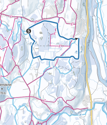 Map / Sonnenalp trail - cross-country skiing in Ofterschwang