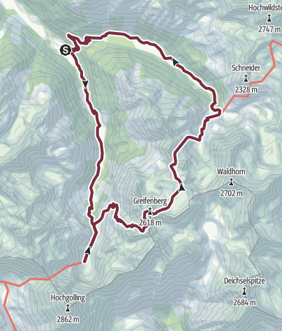 Map / 3-day-tour: Klafferkessel