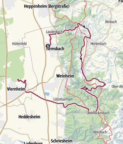 Karte / Viernheimer Triathlon // Radstrecke