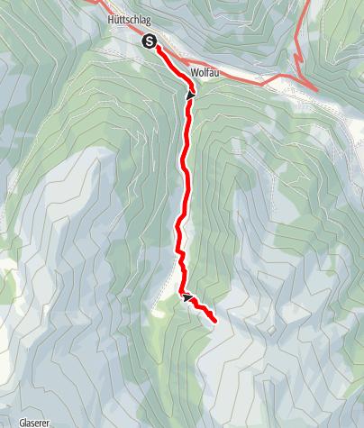 Karte / Hüttschlag: Hühnerkaralm