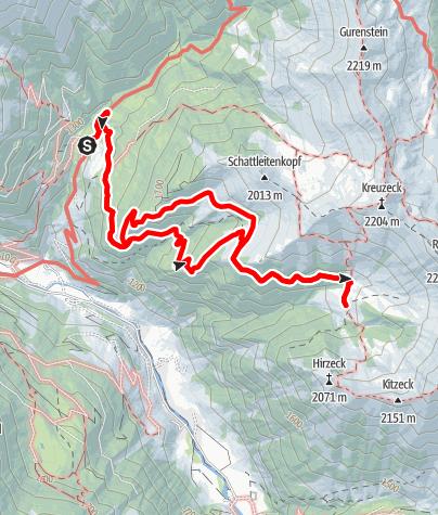 Karte / Hüttschlag: Glettnalm