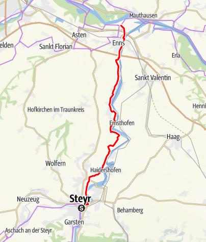 Karte / Etappe 06 Ennsradweg Steyr - Enns
