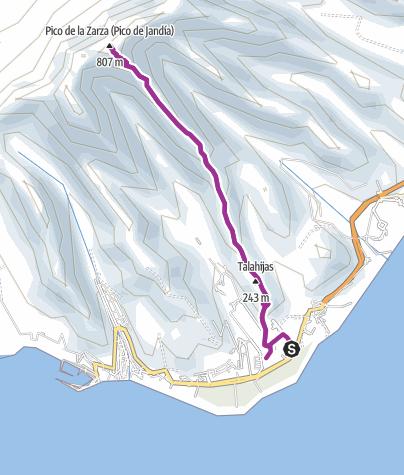 Karte / 090429 Pico de la Zarza