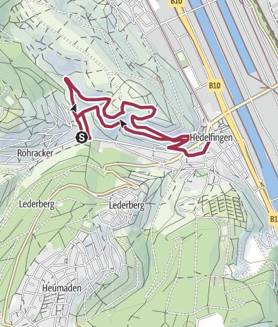 Karte / Weinwanderweg Hedelfingen