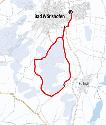 Karte / Moosbergloipe (Loipe 1) Variante ab Ostpark