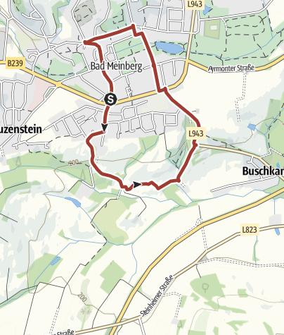 Kaart / Hermannshöhen Tourtip 12: De veenmijl van Meinberg