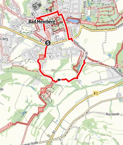 Karte / Hermannshöhen Tourentipp 12: Meinberger Moormeile
