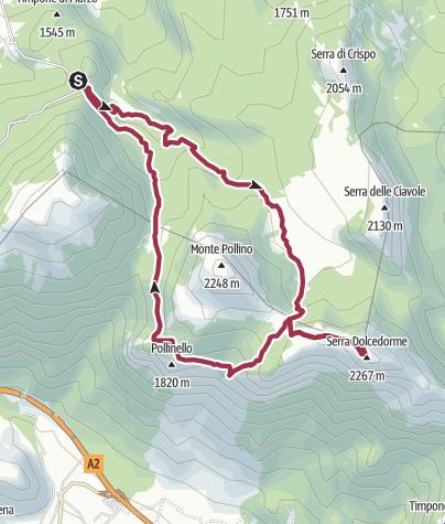 Mapa / Colle dell'Impiso - Serra Dolcedorme e ritorno.