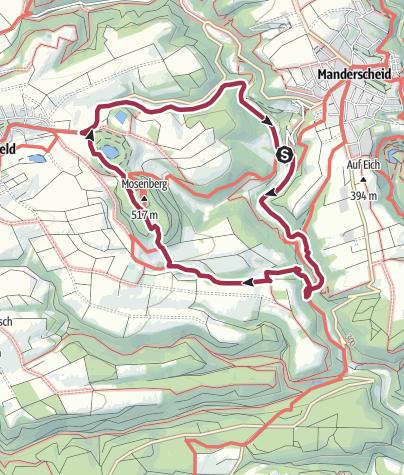 Karte / Mosenberg Rundwanderung