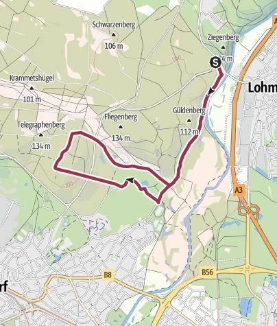 Karte / Wahner Heide (Süd)