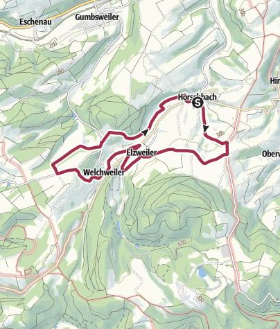 "地图 / Horschbach - Herrmannsberger Höhentour ""Panoramatour"""