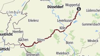 Aachen Karte Stadtteile.Jakobsweg Wuppertal Aachen Pilgerweg Outdooractive Com