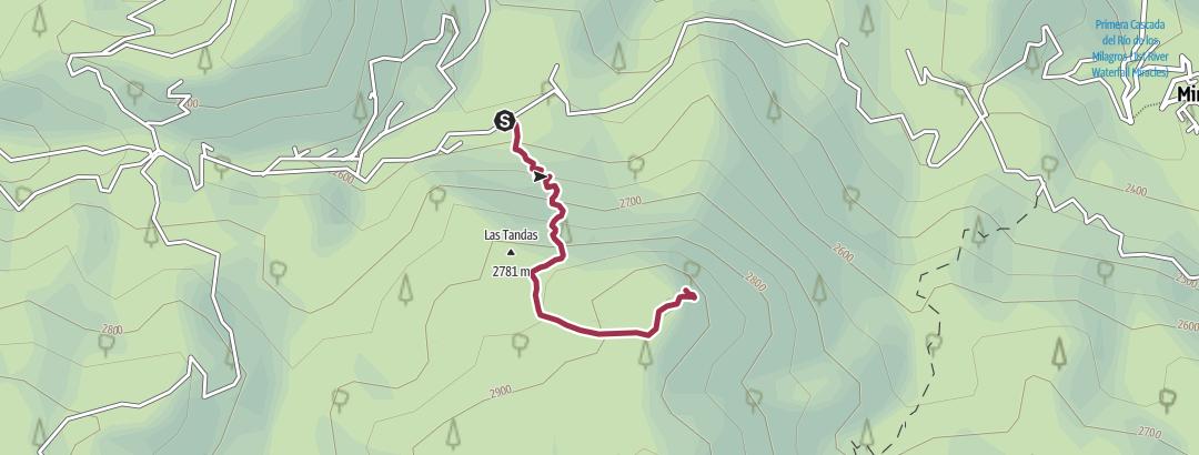 Mapa / Las Monjas - Valle central