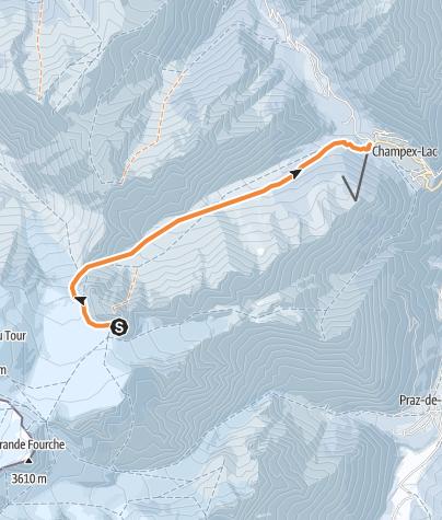 Map / HR2 Cab. Trient - Val d'Arpette