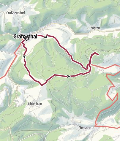 Karte / Tour 4 – Audio-Tour: Vom Zoptetal zur Thüringer Warte