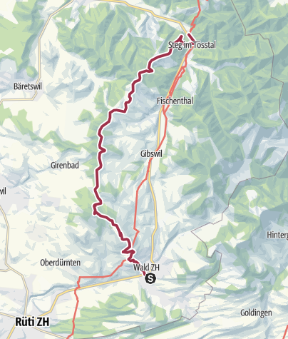 Map / Rundsicht vom Bachtelturm