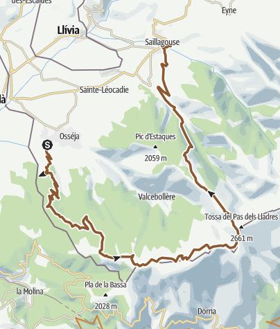 Carte / Palau de Cerdagne/borne 504/ Puigmal