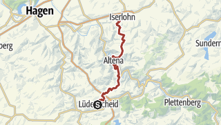 Map / Wanderung auf dem Drahthandelsweg von Lüdenscheid nach Iserlohn