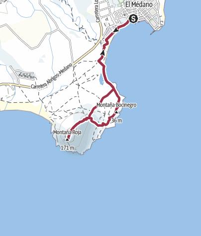 Karte / Auf die Montaña Roja