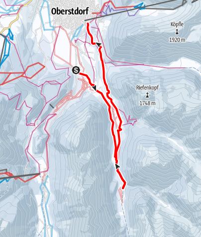 Karte / Trettachtal - Spielmannsau