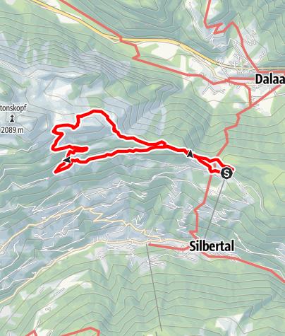 Karte / Vom Kristberg auf die Obere Wies und über das Korallenriff zurück