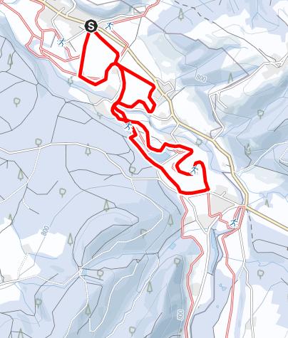 Karte / 4.1 Eschachtal-Loipe 5 Kilometer