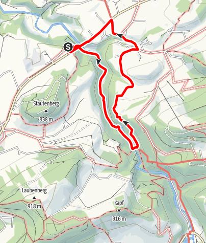 Karte / Naturschutzgebiet Eistobel: Rundweg über Riedholz - Westallgäuer Wasserweg 19