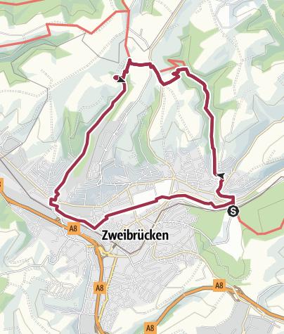 Karte / Zweibrücker Herzogstour