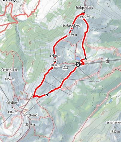 Karte / Fellhorngrat - Schlappoldkopf