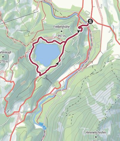 Map / Rund um den Freibergsee