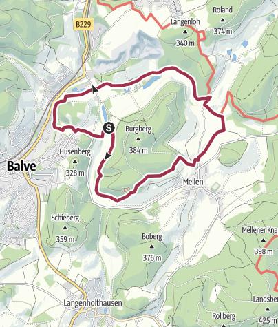 Karte / Balve: Rund um die Luisenhütte in Wocklum