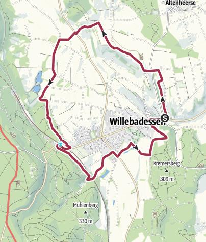 Karte / Der Hitgenheierweg in und um Willebadessen