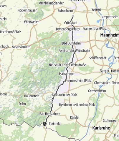 Karte / Deutsche Weinstraße - Touristikroute