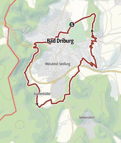 Karte / Lebenskraft - Wanderweg südlicher Sachsenring Bad Driburg