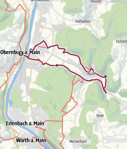 Karte / Von Obernburg durch die Rücker Weinberge