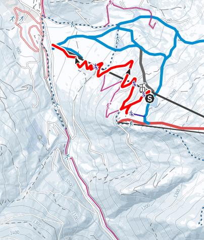 Karte / Rodelbahn Bifei's Hütt'n und Hochnössleralm