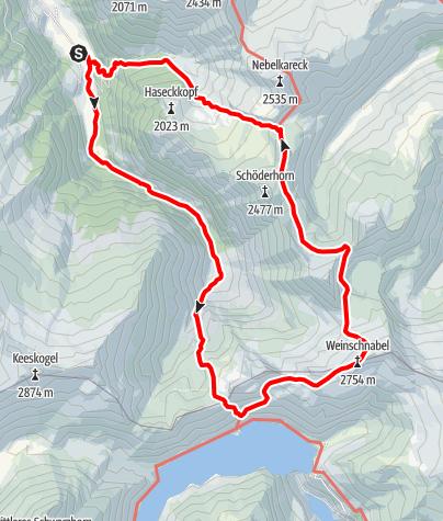 Karte / Hüttschlag: Weinschnabel