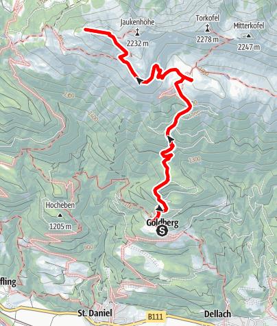 Karte / Jaukenstöckl (2.203 m)
