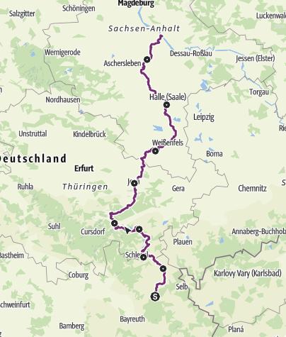 Karte / Saale-Radweg