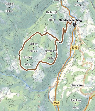 Karte / MTB: 05 - Ettenberg-Runde