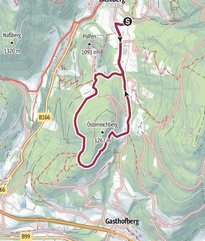Karte / Österreichberg 1267m