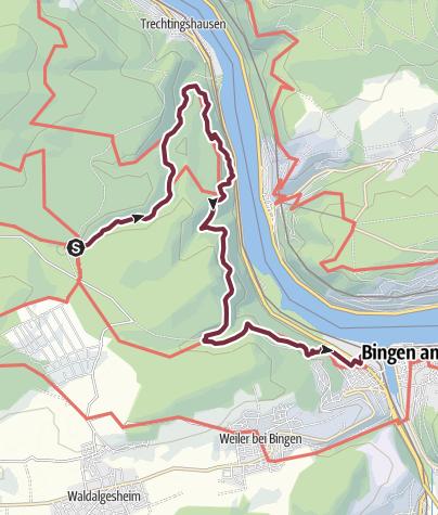 Karte / Soonwaldsteig - Etappe 06: Jägerhaus-Bingen