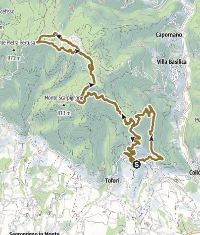 Map / Petrognano  Pizzorne
